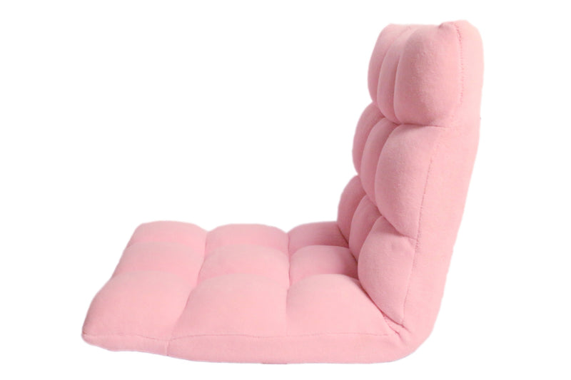 Iconic Home Daphene Adjustable Recliner Rocker Memory Foam Floor Ergonomic Gaming Chair Pink