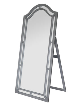 Iconic Home Berlin Kali Pax Gale Perzsi Floor Mirror Free Standing Satin Finish Traditional Silver Main Image