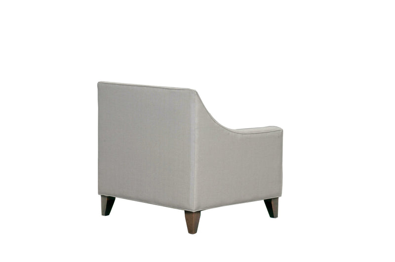 Iconic Home Aberdeen Linen Tufted Accent Club Chair Cream