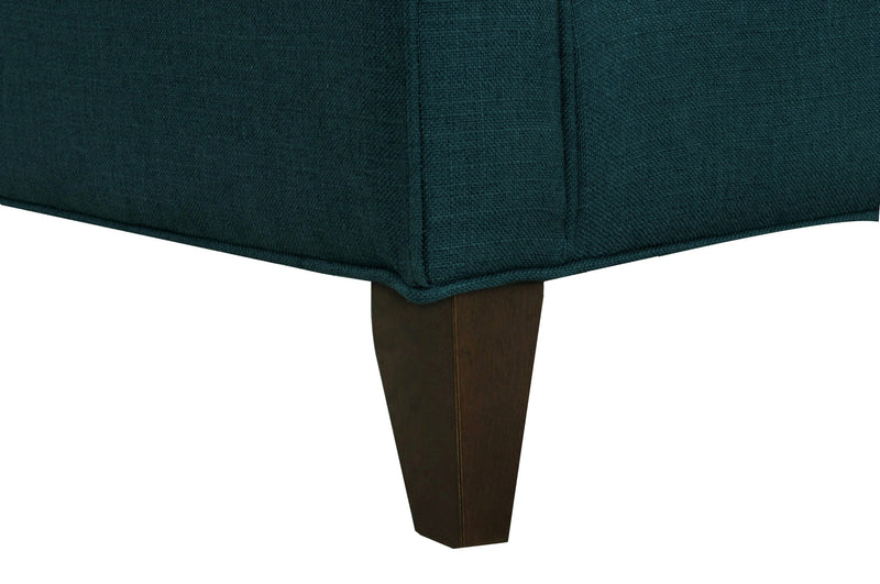 Iconic Home Aberdeen Linen Tufted Accent Club Chair Teal