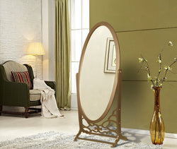 Iconic Home Bowery John Chambers York Canal Cheval Floor Mirror Free Standing Spindle Accent Legs Gold Main Image