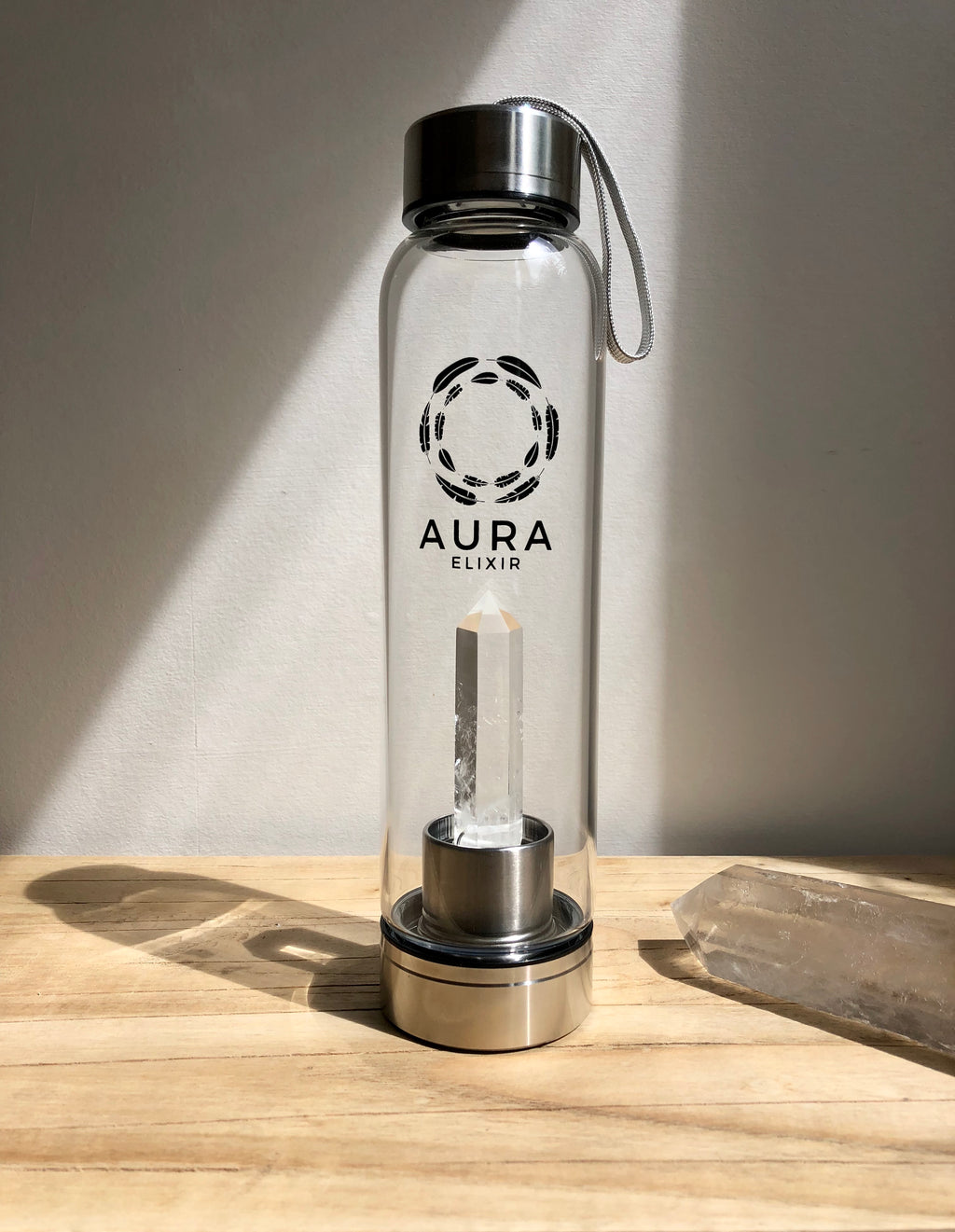 Clear Quartz Elixir Water Bottle