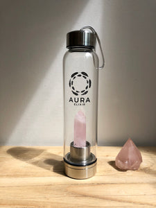 Rose Quartz Elixir Water Bottle