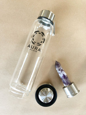 Chevron Amethyst Elixir Bottle