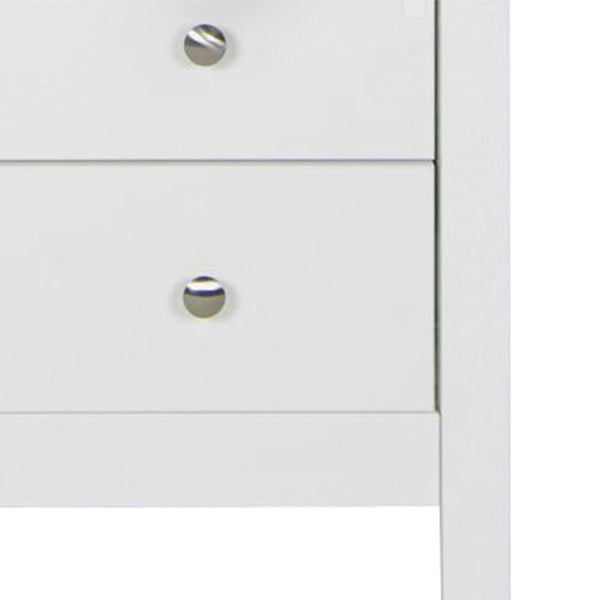 Bedside + Chest + Desk/Dressing Table In White - Home Affections
