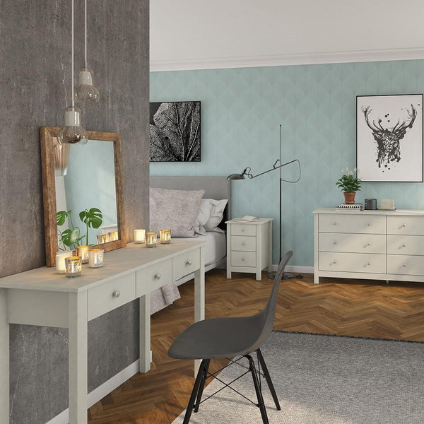 Dressing Table In Soft Grey - Home Affections