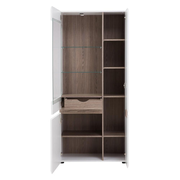 Tall Wide Display Cabinet (RHD) - Home Affections