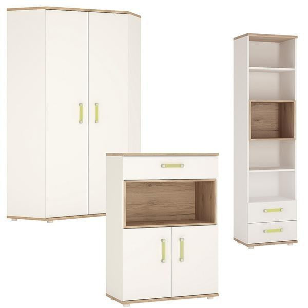 Corner Wardrobe + Bookcase + Cupboard - Home Affections