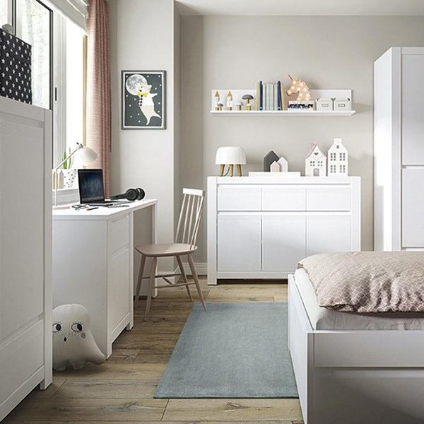 Drawer Desk in Alpine White - Home Affections