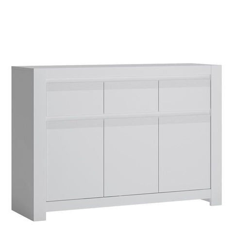 Wide Cabinet in Alpine White - Home Affections
