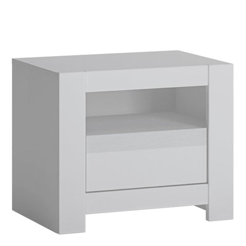 Bedside Table in Alpine White - Home Affections
