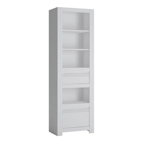 Bookcase in Alpine White - Home Affections