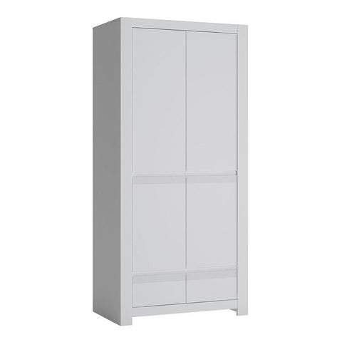 Wardrobe in Alpine White - Home Affections