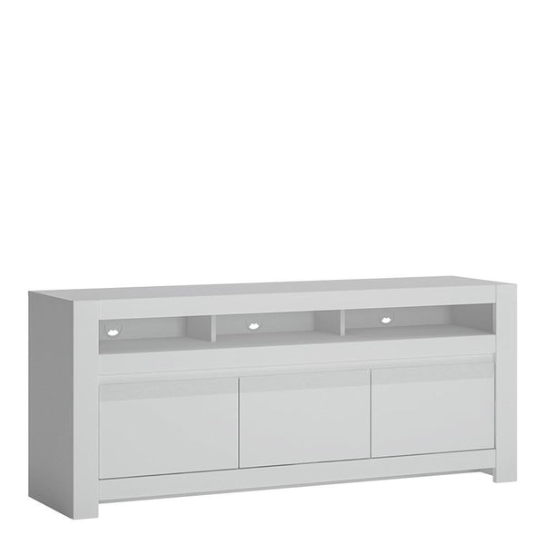 TV Cabinet in Alpine White - Home Affections