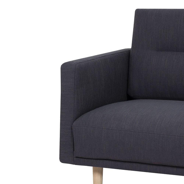 Armchair In Antracit With Oak Legs - Home Affections
