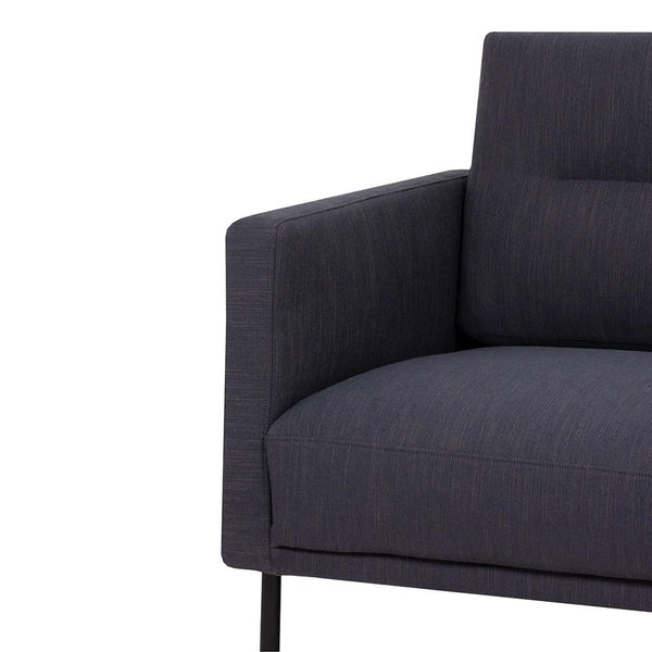 Armchair In Antracit With Black Legs - Home Affections