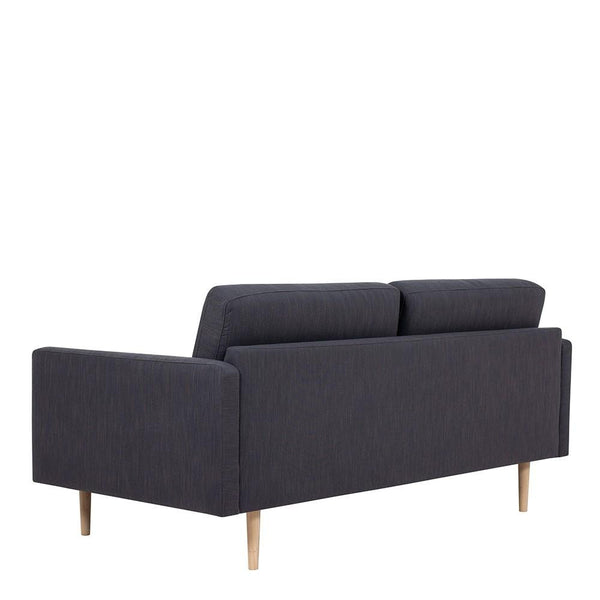 Two Seater Sofa In Antracit With Oak Legs - Home Affections
