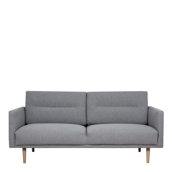 Two Seater Sofa In Grey With Oak Legs - Home Affections