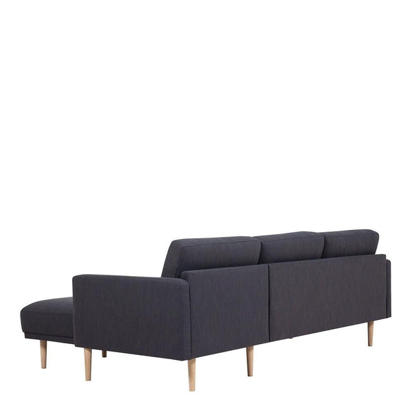 Chaiselongue Sofa (RH) In Antracit With Oak Legs - Home Affections