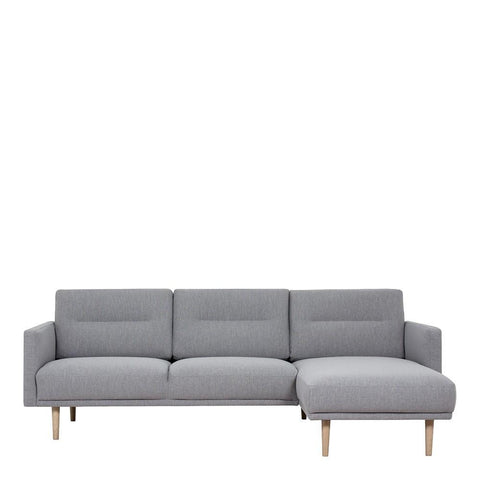 Chaiselongue Sofa (RH) In Grey With Oak Legs - Home Affections