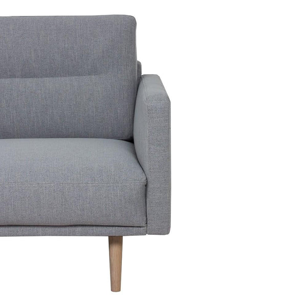 Chaiselongue Sofa (LH) In Grey With Oak Legs - Home Affections