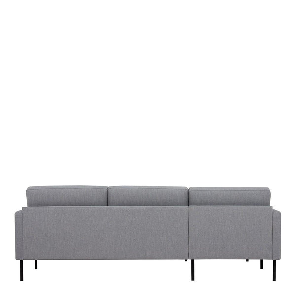 Chaiselongue Sofa (LH) In Grey With Black Legs - Home Affections