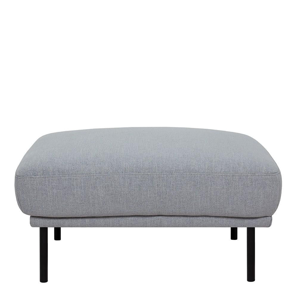 Footstool In Grey With Black Legs - Home Affections