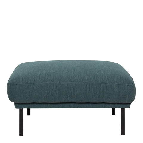 Footstool In Dark Green With Black Legs - Home Affections
