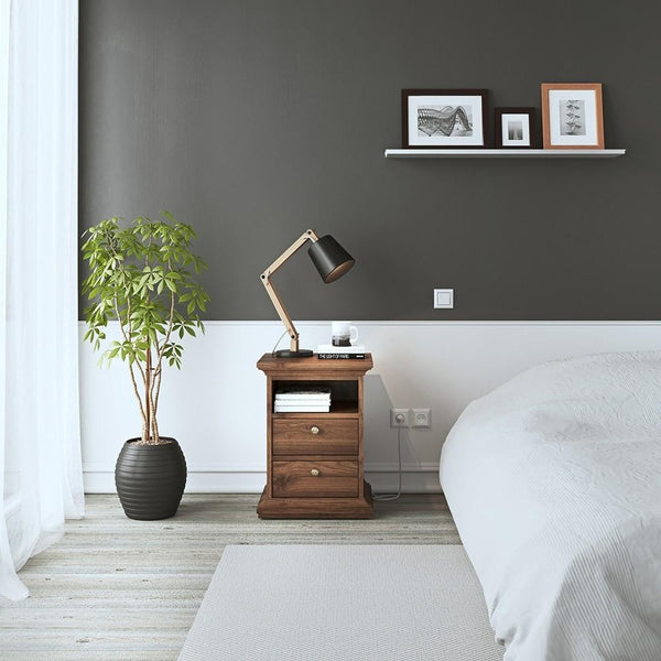 Bedside Table In Walnut - Home Affections