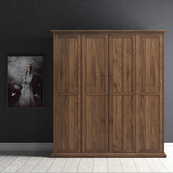 Large Wardrobe In Walnut - Home Affections