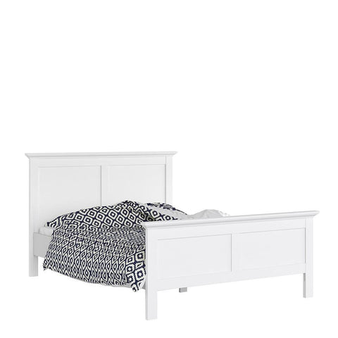 King Size Bed In White - Home Affections
