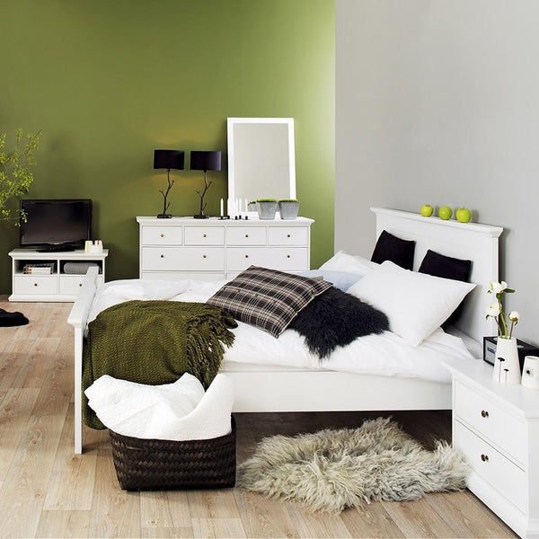 Double Bed In White - Home Affections