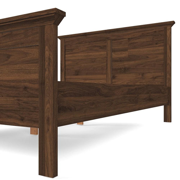 Double Bed In Walnut - Home Affections