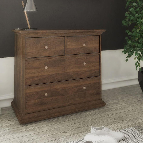 Small Chest In Walnut - Home Affections