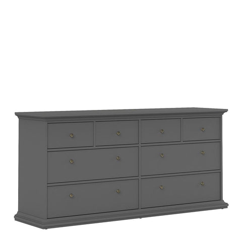 Wide Chest In Matt Grey - Home Affections