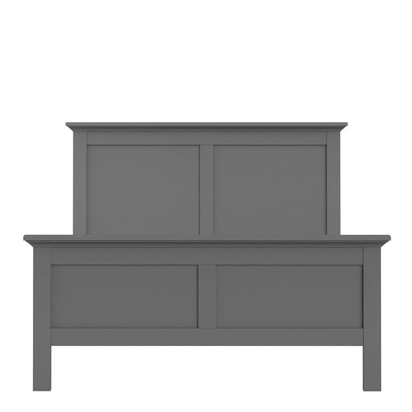 Double Bed In Matt Grey - Home Affections
