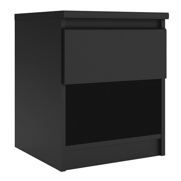 Bedside Table In Black Matt - Home Affections