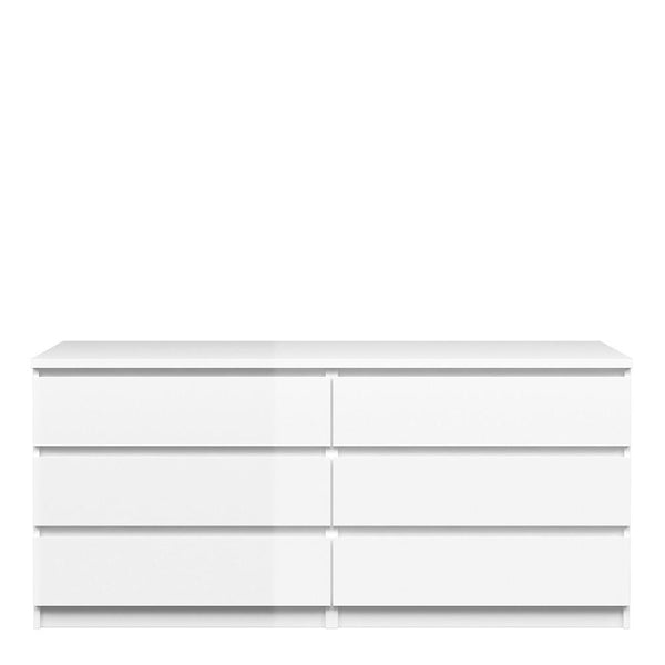 Wide Chest In White High Gloss - Home Affections