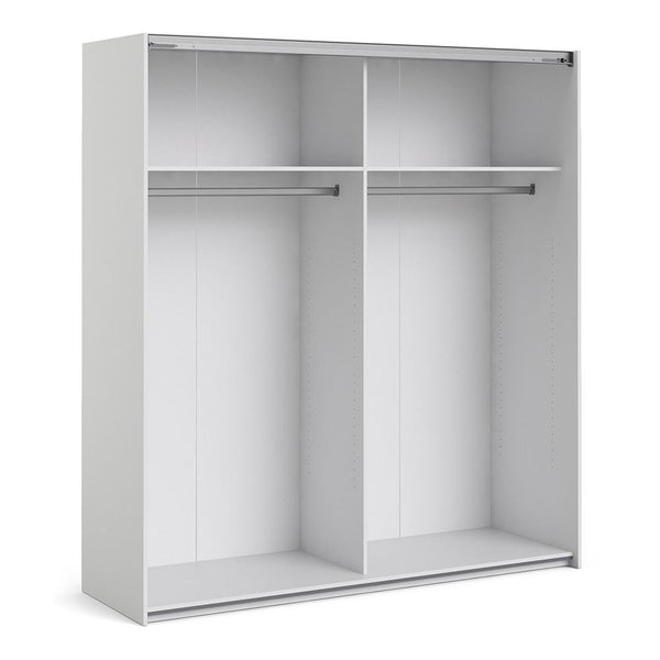 Sliding Wardrobe In White - Home Affections