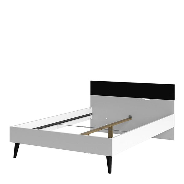 Double Bed In White and Black Matt - Home Affections