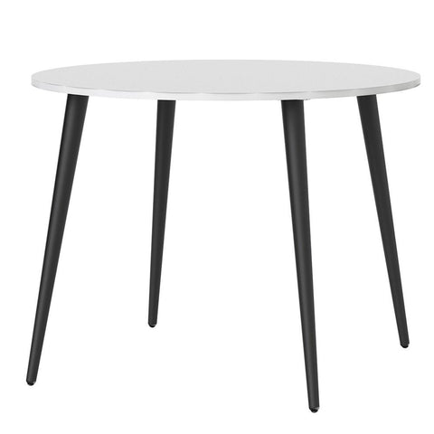 Small Dining Table In White & Black - Home Affections
