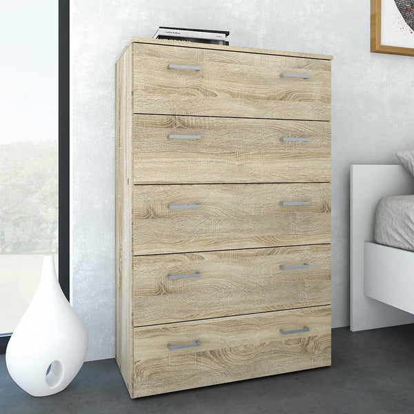 Tall Chest In Oak - Home Affections