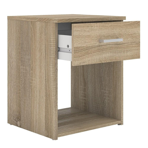 Bedside Table In Oak - Home Affections
