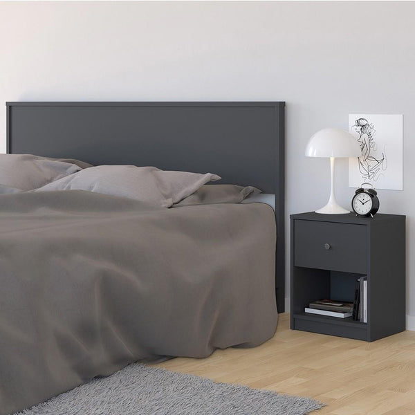 Bedside Table In Grey - Home Affections