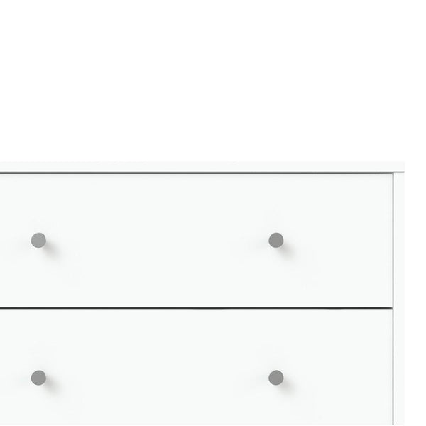 Wide Chest Drawers In White - Home Affections