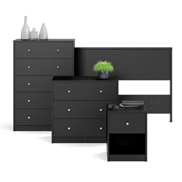 Wide Chest Drawers In Black - Home Affections