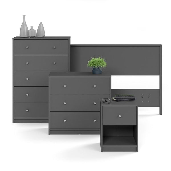 Wide Chest Drawers In Grey - Home Affections