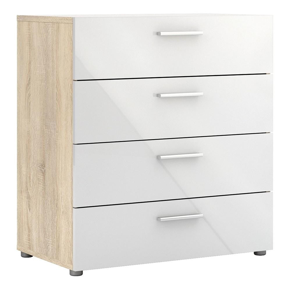 Chest In Oak & White - Home Affections