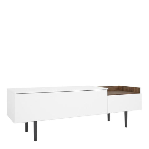 Large Sideboard In White & Walnut - Home Affections