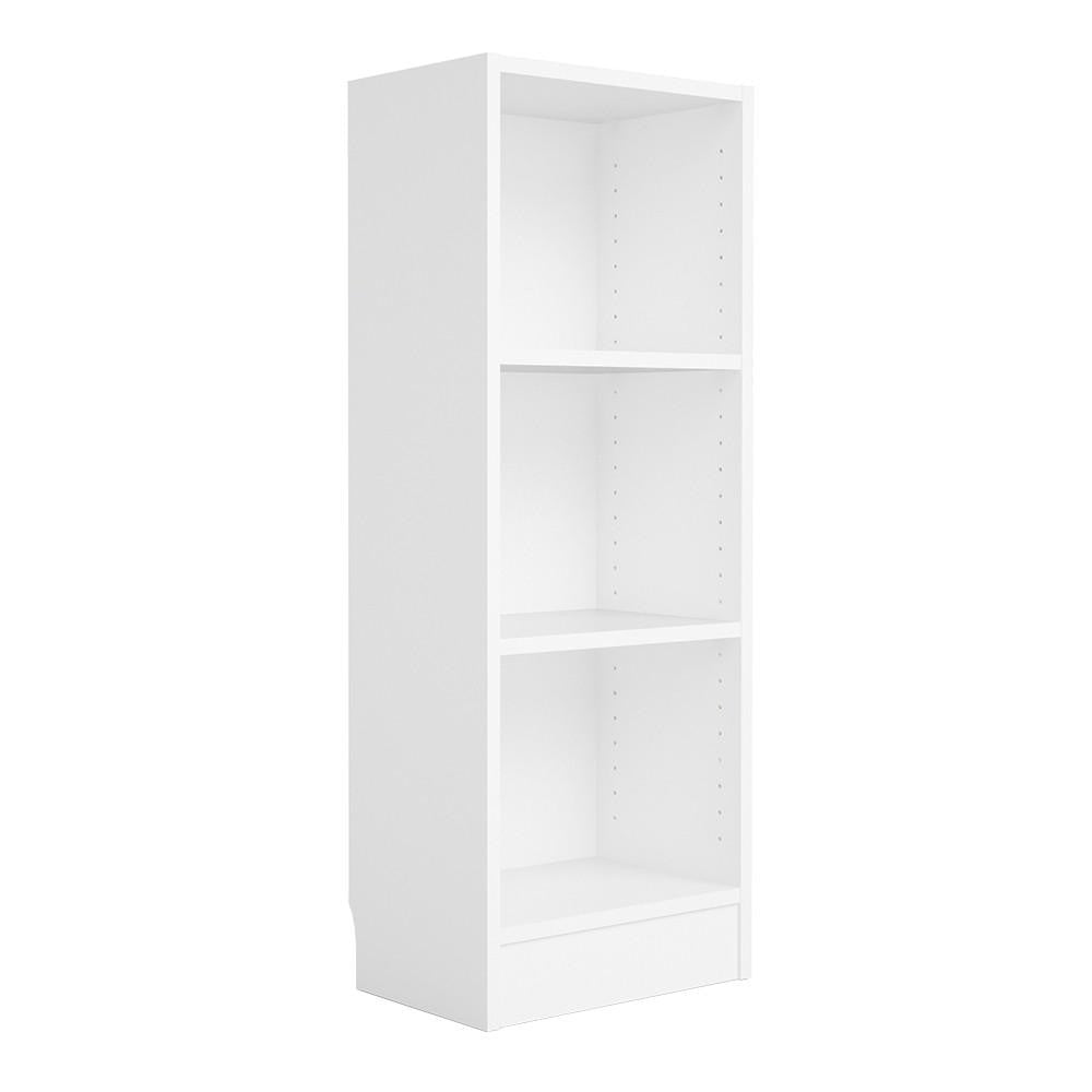 Narrow Bookcase In White - Home Affections